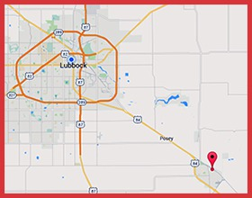 Map of Slaton to Lubbock
