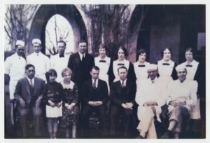 Slaton Harvey House staff from the early days