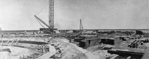 Circa 1911 construction of Slaton Santa Fe turntable