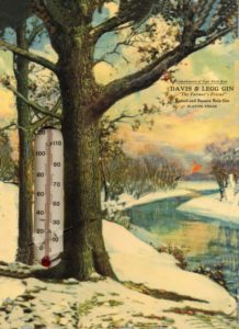 1930s David & Legg Gin thermometer