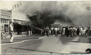 Downtown fire, 1937