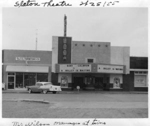 Slaton Theater and Self Furniture, 1955