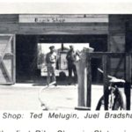 Teds Bicycle Shop, 1944. Later Ted & Juels. Ted Melugin, Juel Bradshaw, Bart Jones.