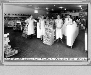 Red & White Grocery, ca. 1946. John Berkley, Billy Goldman, Robert Woodfin, Roy Parks, Gene Berkley, Calvin Lamb.