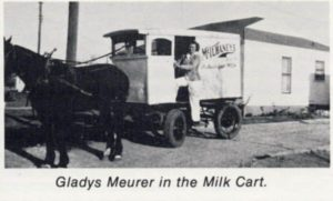 1946 McIlhaney's Milk Delivery, Gladys Meurer
