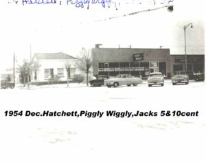Dr. Hatchett dentist office, Piggly Wiggly (now Slaton Antique Mall & Museum) , Jacks 5&10, south side of square
