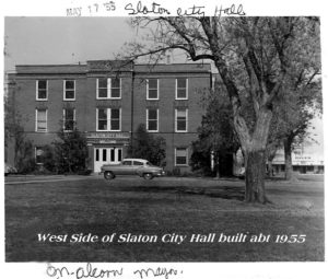 West Side of Slaton City Hall, 1955