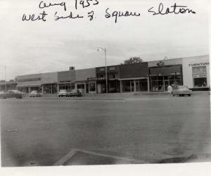 West side of Slaton square, 1955