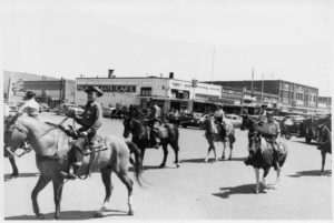 1961 Slaton 50th Anniversary, north side of square