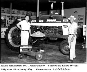 Slaton Implement, 1961, Slaton Highway