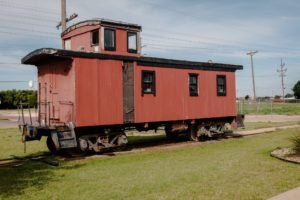 Slaton Harvey House Caboose, east side