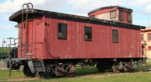 Slaton Harvey House Caboose