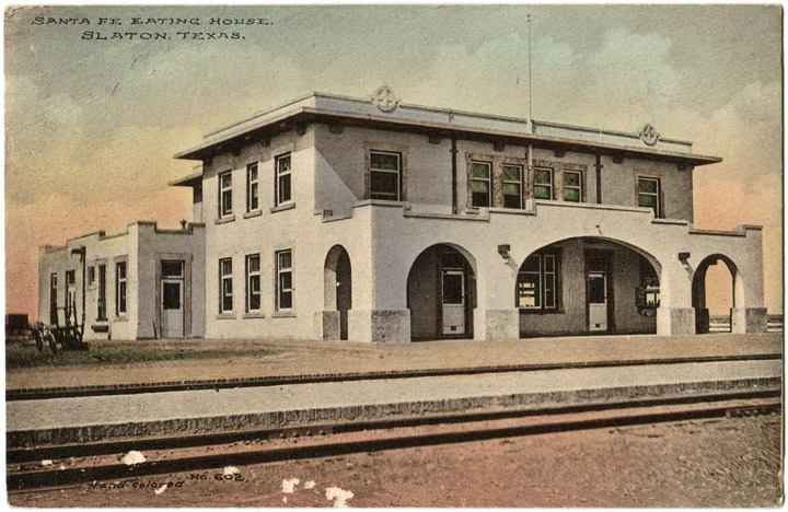 Slaton Harvey House Postcard
