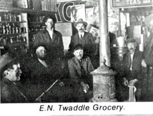 E.N.Twaddle Grocery, 1912, later called Blue Front Grocery