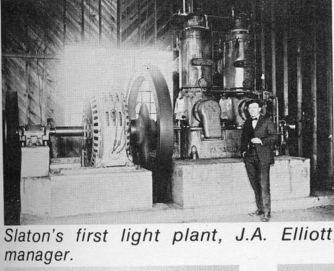 Slaton's First Power Plant, 1920