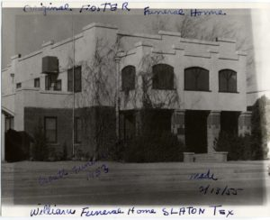 Funeral Home - first Foster, then Williams then Englund's. 1953