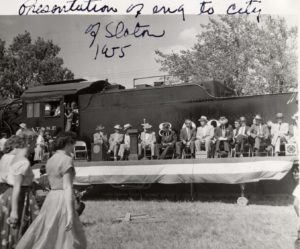 1955 Presentation of Engine 1809 to Slaton